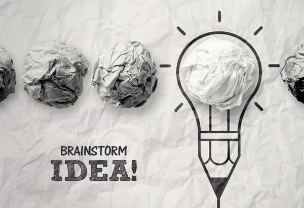 از روش طوفان مغزی استفاده کنید