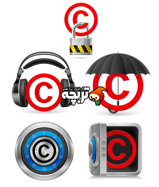 دانلود وکتورهای مفهومی کپی رایت CopyRight Concept Vectors