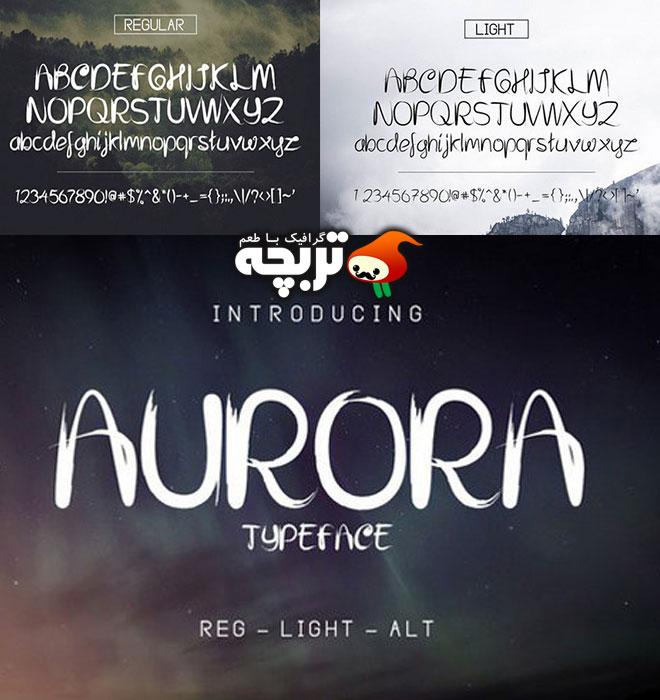 دانلود فونت انگلیسی Aurora