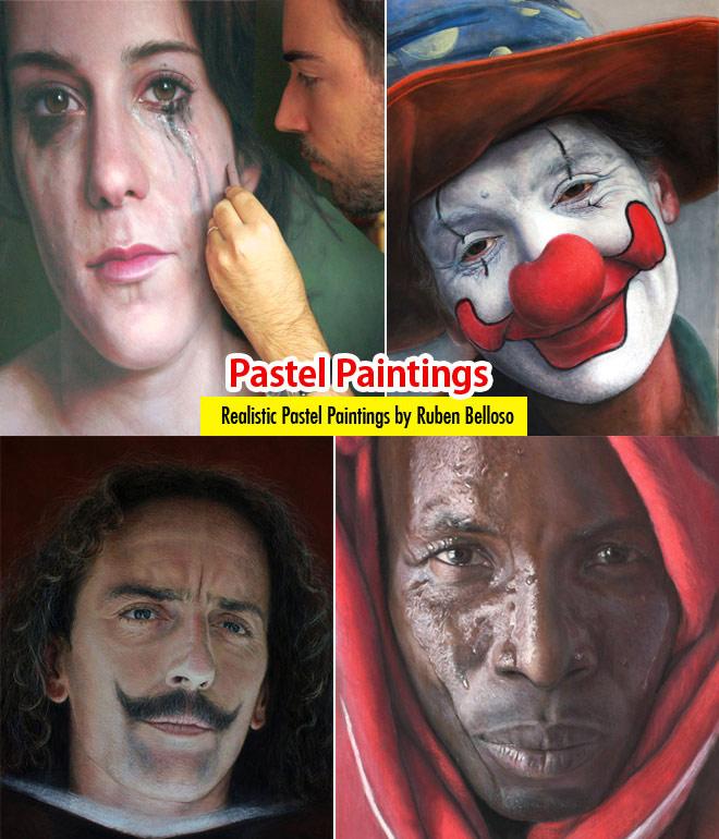 نقاشی های واقع گرایانه با پاستل توسط Ruben Belloso