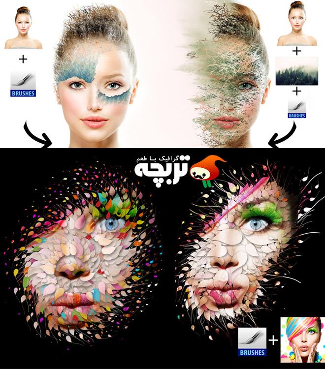 دانلود اکشن فتوشاپ افکت جابجایی المان های تصویر