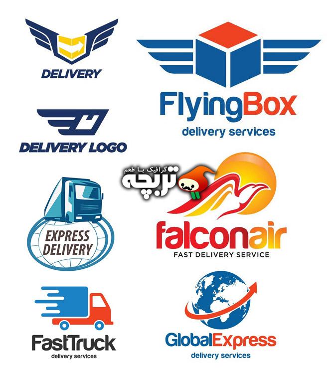 دانلود مجموعه وکتورهای تحویل کالا Delivery Logo Elements