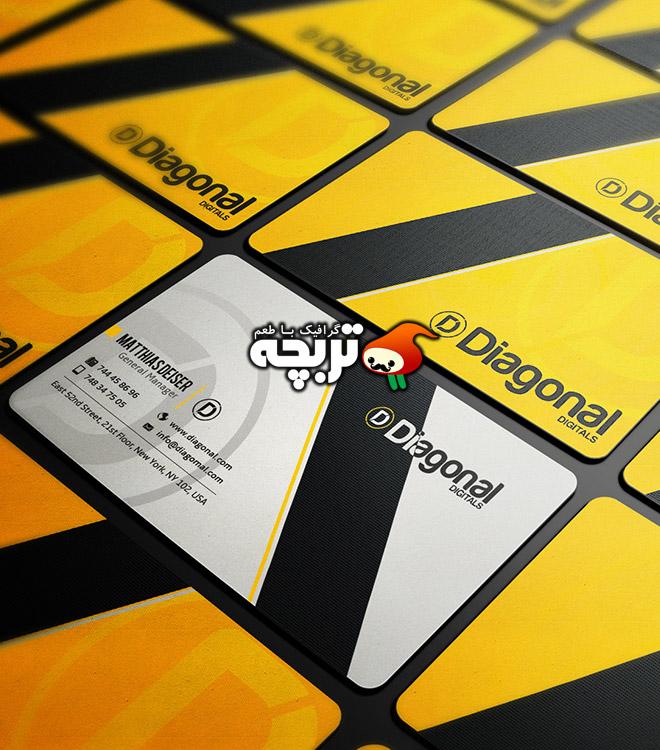 دانلود طرح لایه باز کارت ویزیت دیجیتال Digital BusinessCard