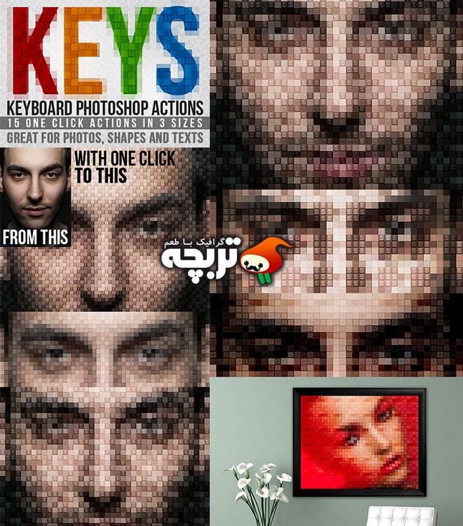 دانلود اکشن فتوشاپ صفحه کلید Keyboard Keys Photoshop Actions
