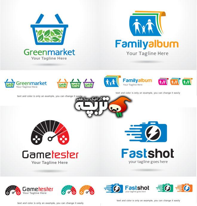 دانلود وکتورهای خلاقانه لوگو در زمینه های کاری مختلف