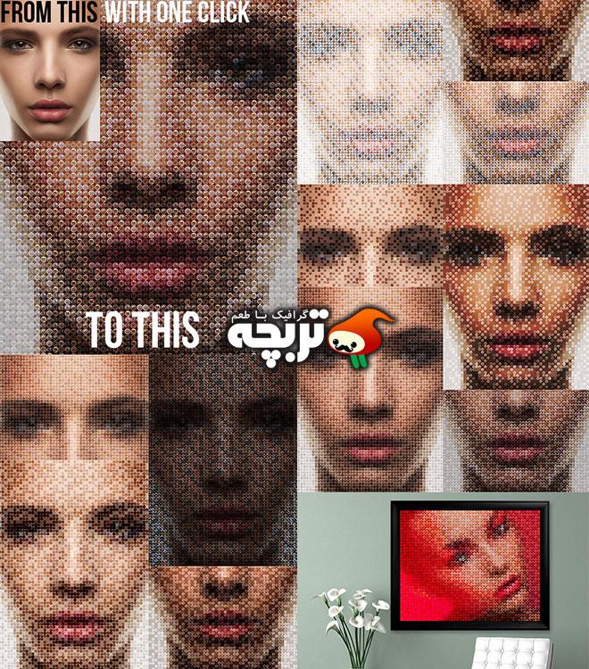 دانلود اکشن فتوشاپ پیچ کردن تصاویر Screws PhotoShop Actions