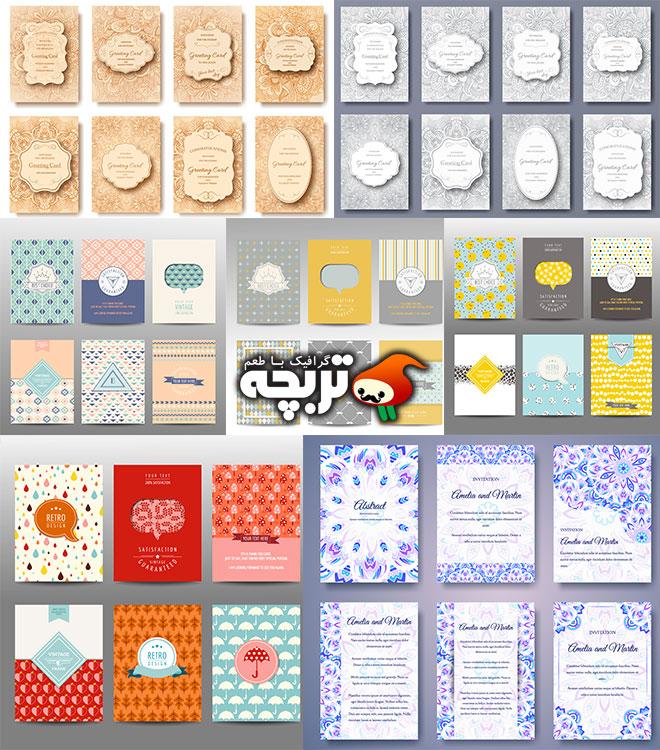 دانلود مجموعه وکتورهای کارت دعوت عروسی
