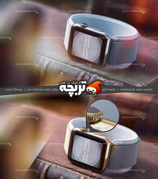 دانلود طرح لایه باز پیش نمایش ساعت هوشمند Smart Watch Mockup