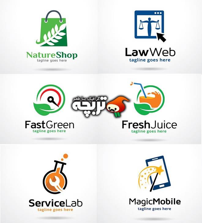 دانلود مجموعه وکتورهای لوگو مشاغل مختلف
