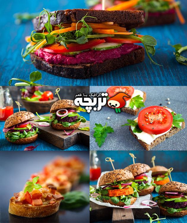 دانلود تصاویر با کیفیت انواع ساندویچ و اسنک