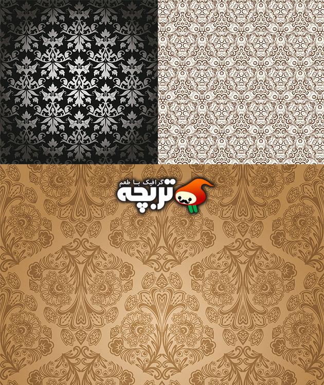 دانلود وکتورهای کاغذ دیواری سنتی