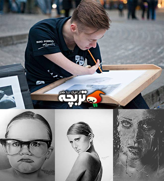 نقاشی های واقع گرایانه توسط جوان معلول
