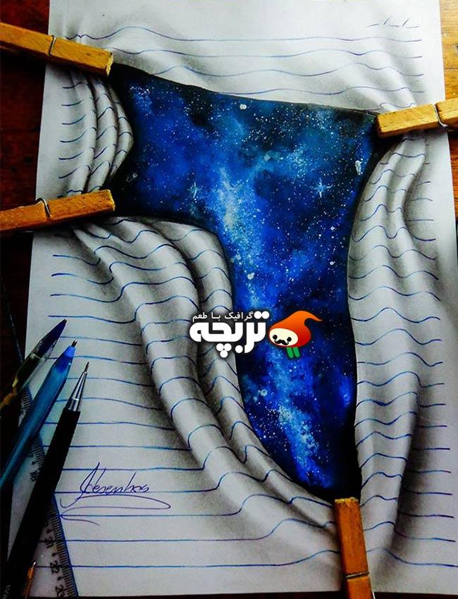 نقاشی های ۳ بعدی توسط هنرمند ۱۶ ساله