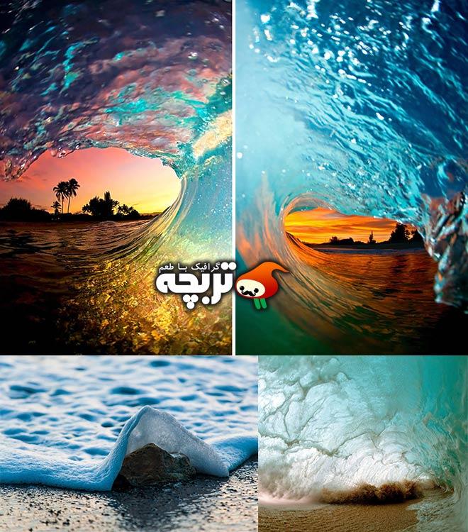 عکاسی هنرمندانه از لحظه زیبای شکستن امواج