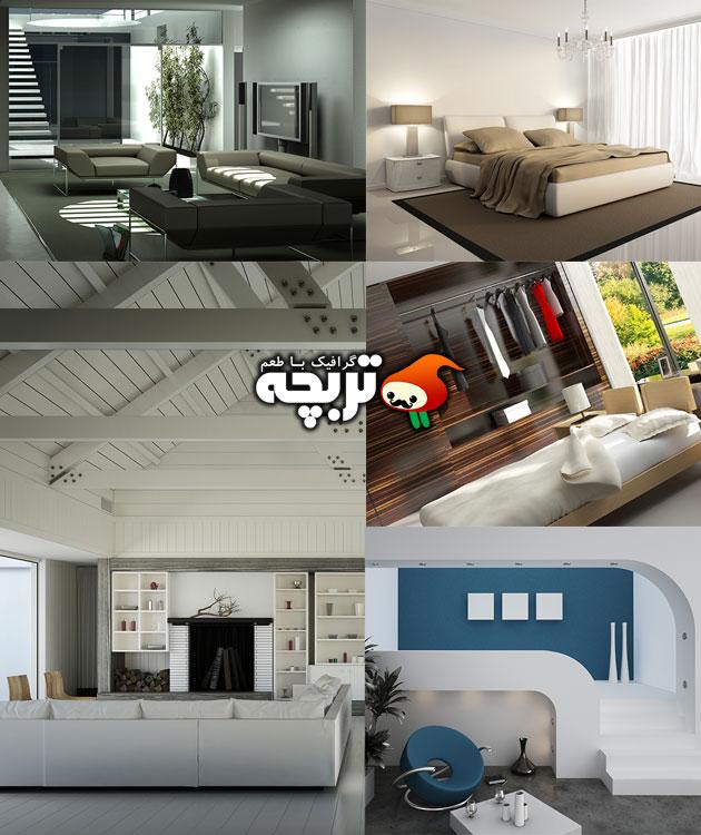 مجموعه تصاویر دکوراسیون آپارتمان مدرن ۱