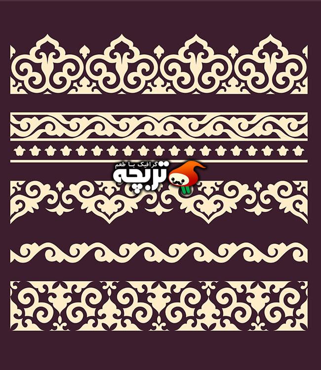 وکتور کادر و حاشیه های سنتی تزئینی ۱