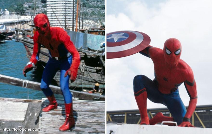 مرد عنکبوتی سال 1977 و 2016