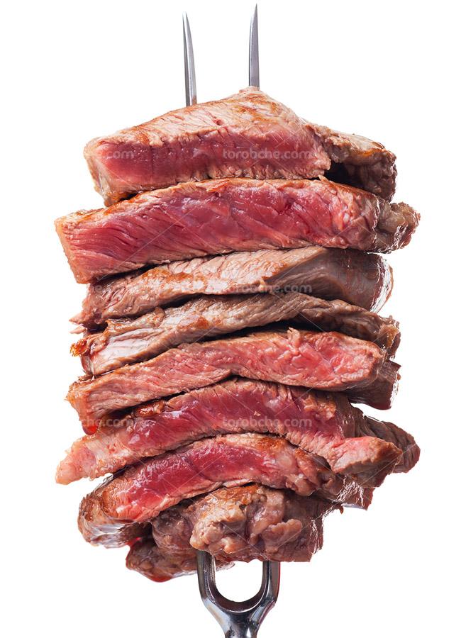 تصویر استیک گوشت با کیفیت عالی