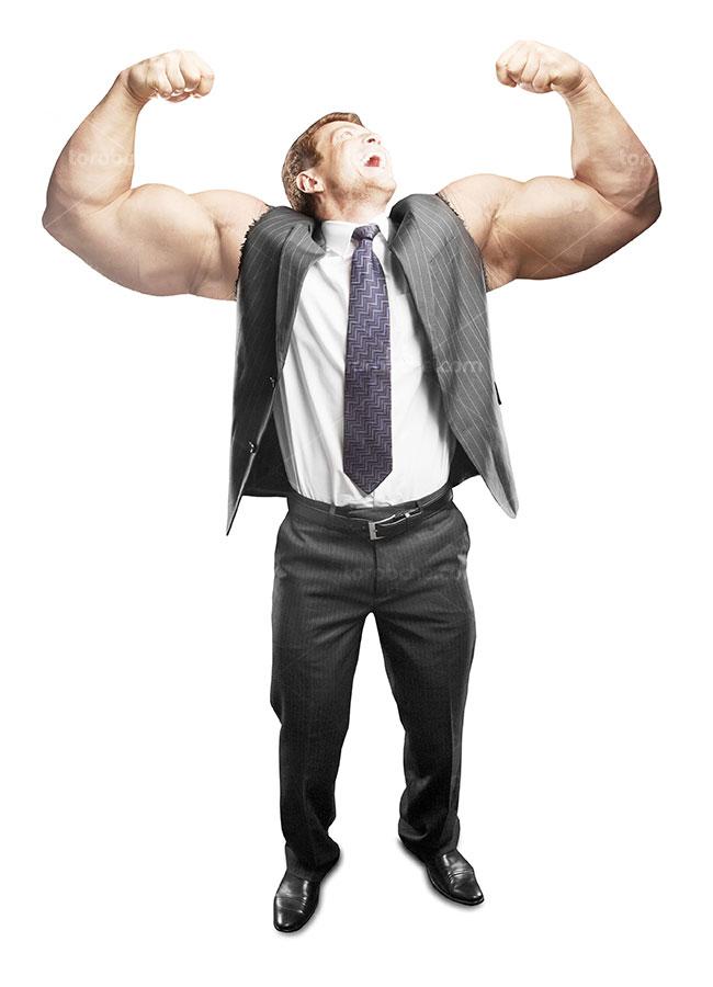 تصویر با کیفیت کسب و کار مفهومی مردی با دستان قدرتمند