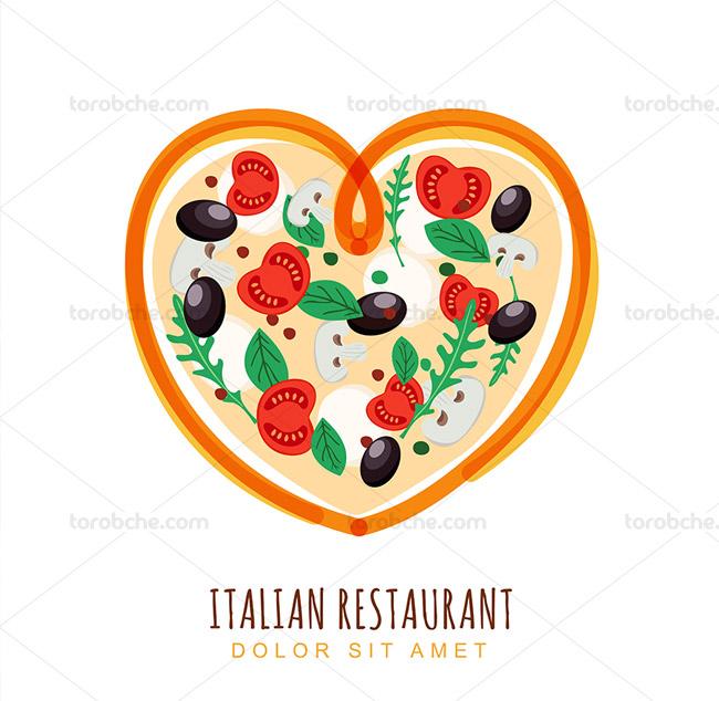 وکتور لوگوی رستوران ایتالیایی