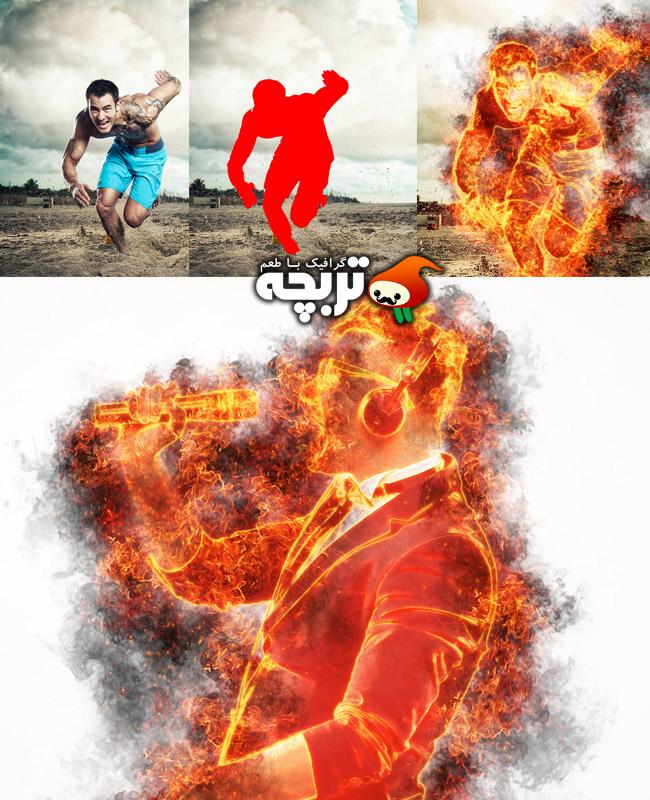 دانلود اکشن فتوشاپ مرد آهنی Iron Man Photoshop Action