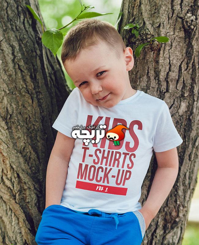 دانلود موکاپ تیشرت کودکان Kids T-shirt Mockup
