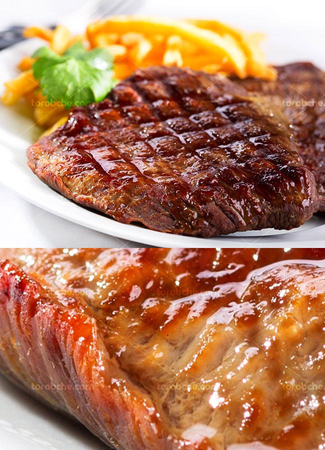 عکس با کیفیت استیک گوشت آبدار