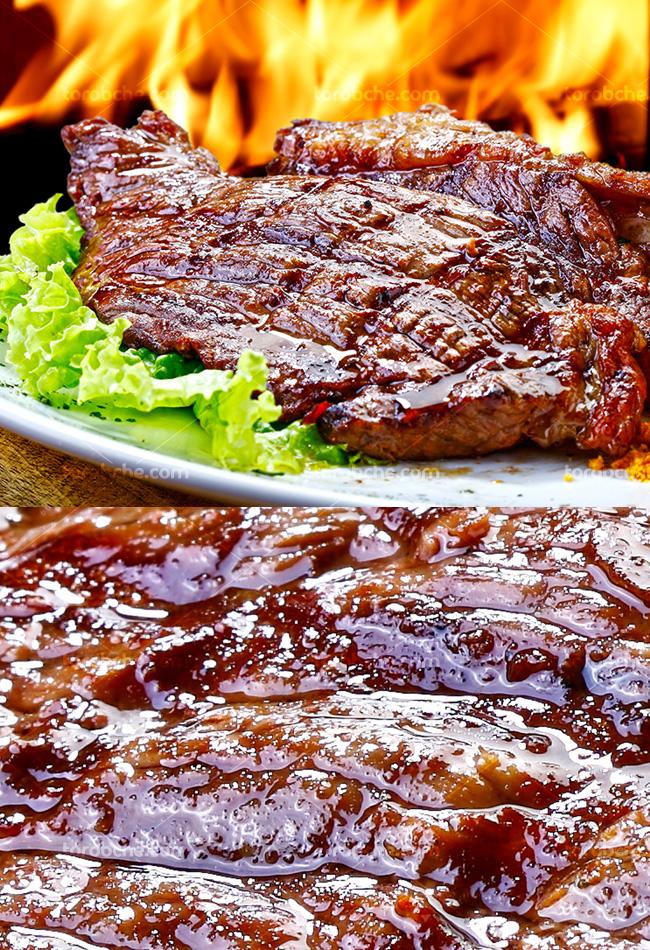 عکس با کیفیت استیک گوشت
