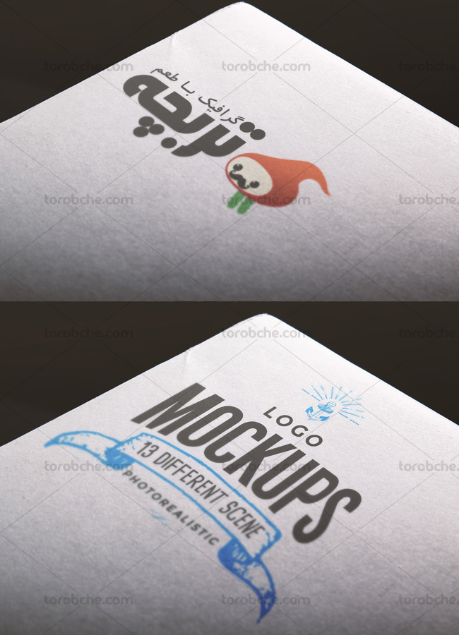 موکاپ لوگوی کاغذی لایه باز