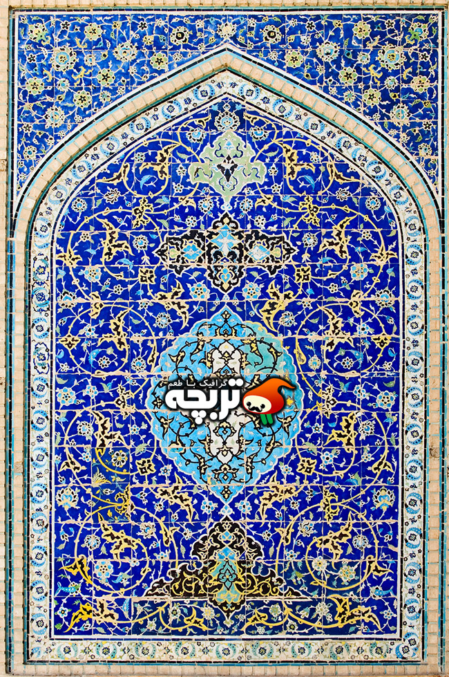عکس با کیفیت کاشی کاری اسلامی Islamic Tiling