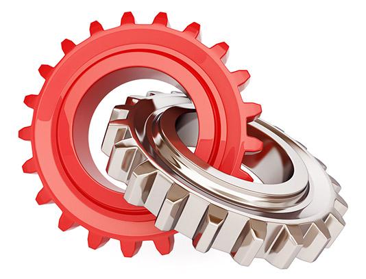 تصویر با کیفیت چرخ دنده سه بعدی