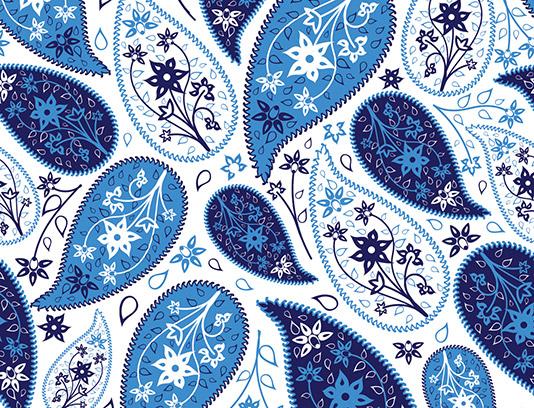 وکتور پترن بته جغه ای آبی رنگ