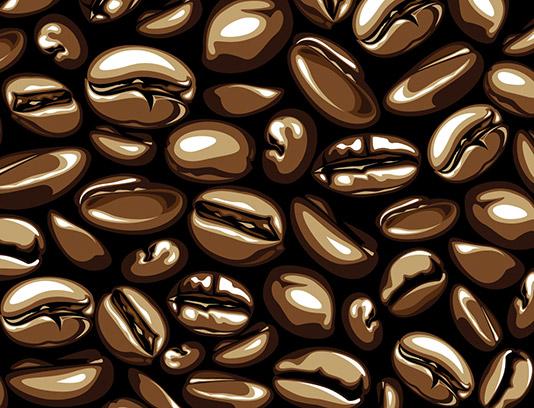وکتور پس زمینه پترن دانه های قهوه