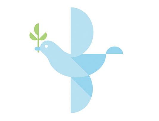 وکتور نماد کبوتر صلح
