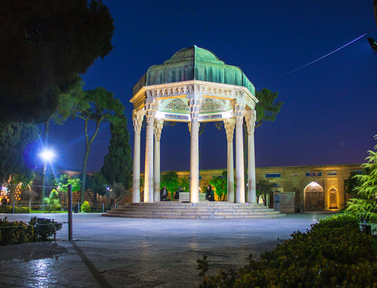 عکس با کیفیت آرامگاه حافظ شیرازی