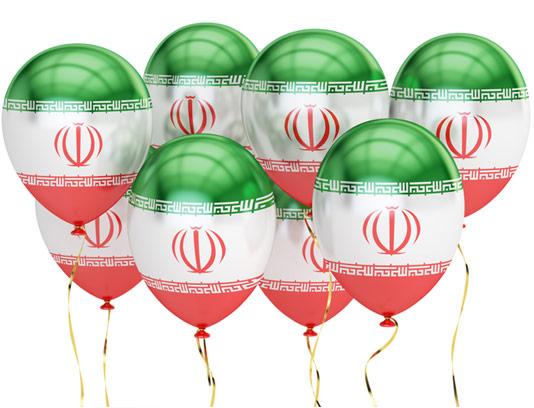 عکس با کیفیت بادکنک با پرچم ایران