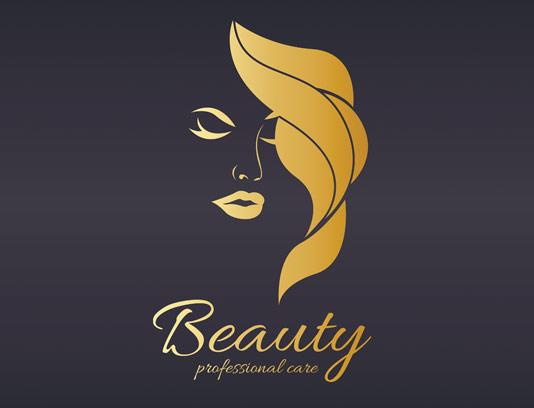 وکتور لوگوی زیبایی و مراقبت از موی بانوان