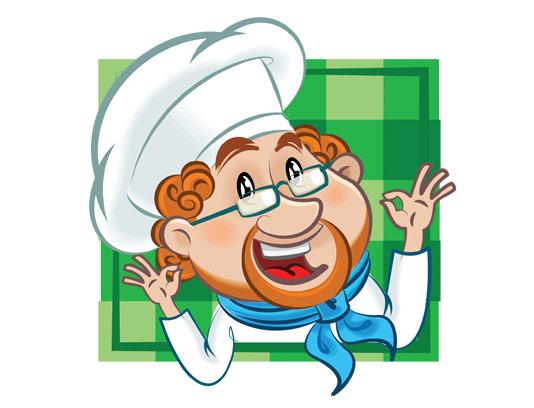 وکتور با کیفیت مرد آشپز