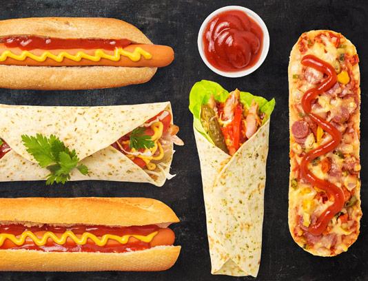 طرح لایه باز تصاویر دوربری شده انواع ساندویچ
