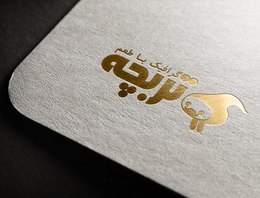 موکاپ لوگوی طلایی بر روی کاغذ سفید