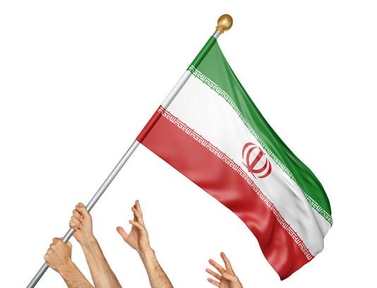 عکس با کیفیت پرچم ایران در دست