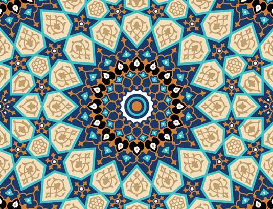 وکتور طرح کاشی کاری اسلامی شماره ۱۰