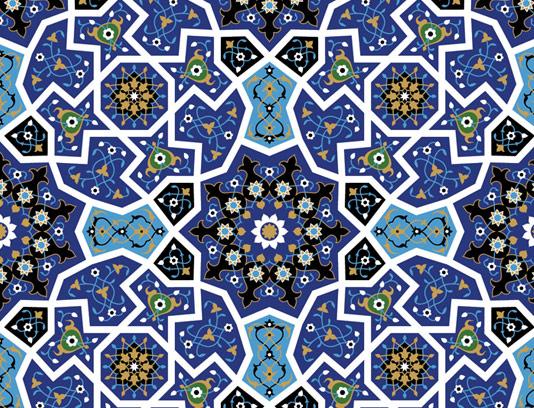 وکتور طرح کاشی کاری اسلامی شماره ۱۵