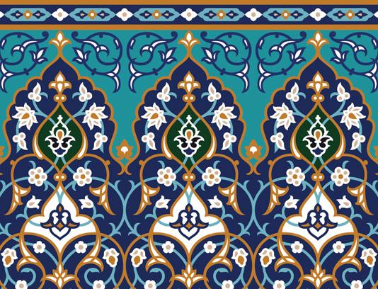 وکتور کاشی کاری اسلامی شماره ۱۸