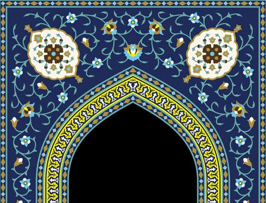 وکتور کاشی کاری محراب مساجد