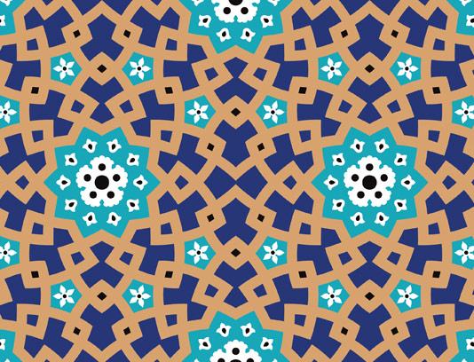 وکتور طرح کاشی کاری اسلامی شماره ۲۵