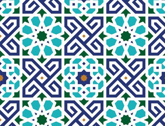 وکتور کاشی کاری اسلامی شماره ۲۶