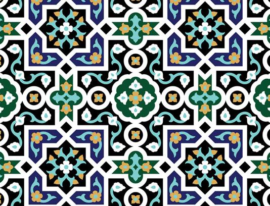 وکتور طرح کاشی کاری اسلامی شماره ۲۸