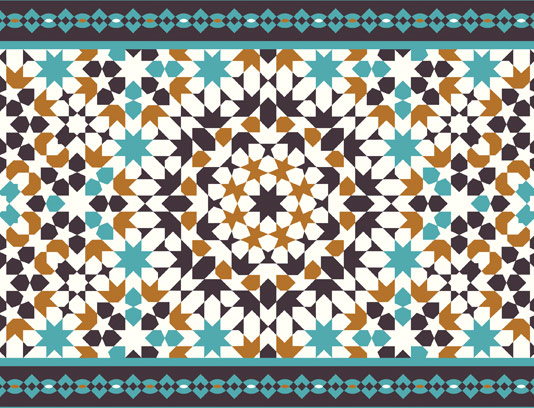 طرح کاشی کاری اسلامی شماره ۲۰