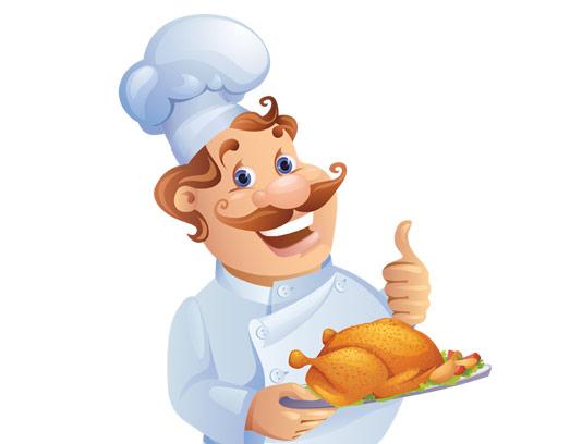 وکتور کاراکتر ایستاده مرد آشپز